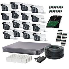 Система відеоспостереження HDCVI 16 зовнішніх камер 2МП