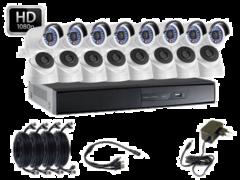 Система відеоспостереження HDCVI 8 зовнішніх+8 внутрішніх камер 2МП