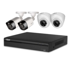 Система відеоспостереження IP 2 зовнішні+2 внутрішні камери 2МП