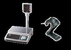 Комплект Ваги CAS PR II P+ Сканер штрих кодів Datalogic QScan QW2100