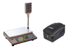 Комплект Ваги електронні Промприлад ВТА-60/15-5-А + Принтер етикеток Gprinter GP-А831