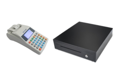 Комплект Касовий апарат Гера MG-V545T (GSM/GPRS) + Грошова скриня Maken EK-330