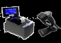 Фискальный регистратор MG-N707TS + Сканер штрих-кодов Newland HR1060 Sardina с подставкой