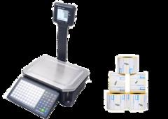 Весы с печатью этикеток Mettler-Toledo bPlus + Термоэтикетка клеющаяся 58 х 40 с препринтом (блок 50 рулонов)
