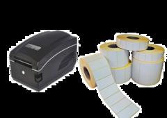 Принтер этикеток Gprinter GP-А831 + Термоэтикетка самоклеющаяся 58 х 40 (блок 10 рулонов)
