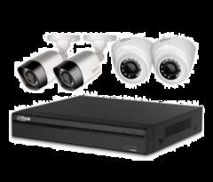 Система відеоспостереження HDCVI 2 зовнішні+2 внутрішні камери 2МП