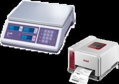 Весы CAS ER JR CB (RS-232) + Принтер этикеток POSTEK iQ200 USB
