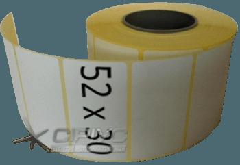 Термотрансферна етикетка самоклеюча 52 х 30