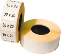 Термоетикетка самоклеюча 30 х 20