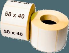 Термоетикетка самоклеюча 58 х 40