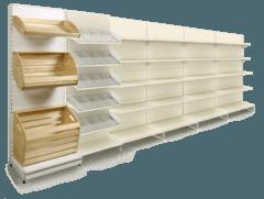 Комплект з кондитерського, хлібного і універсальних стелажів