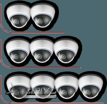 Встановлення від 2-х до 4-х внутрішніх відеокамер