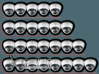 Встановлення від 5-ти до 8-ми внутрішніх відеокамер