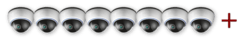 Встановлення більш ніж 8-ми внутрішніх відеокамер