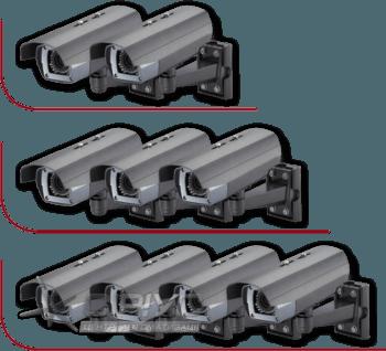 Встановлення від 2-х до 4-х зовнішніх (вуличних) відеокамер