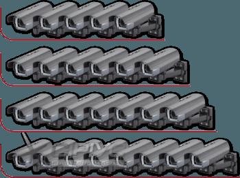 Встановлення від 5-ти до 8-ми зовнішніх (вуличних) відеокамер